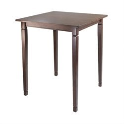 Winsome Kingsgate High Table with Tapered Legs in Antique Walnut