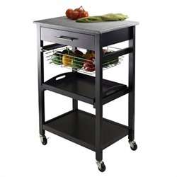 Winsome Julia Utility Cart in Black