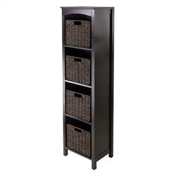 Winsome Terrace 5 Piece Storage 5 Tier Shelf in Dark Espresso