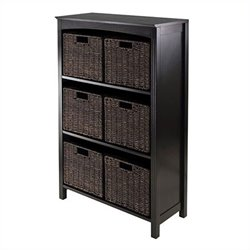 Winsome Terrace 7 Piece Storage 4 Tier Shelf in Dark Espresso