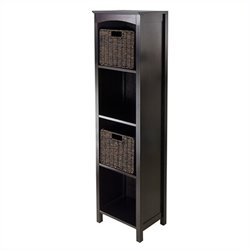 3 Piece Storage 5 Tier Shelf in Dark Espresso