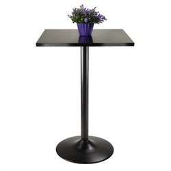 Winsome Obsidian Square Black Pub Table in Black