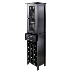 Burgundy Wine Cabinet in Black
