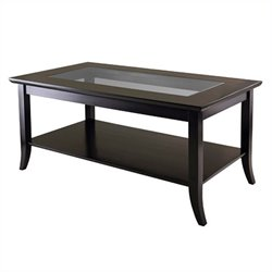 Winsome Genoa Rectangular Coffee Table in Dark Espresso