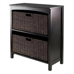 Terrace 3 Piece Storage 3 Tier Shelf in Dark Espresso