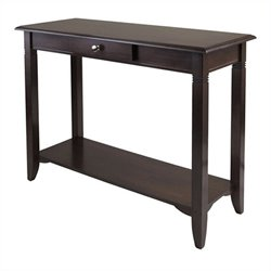 Winsome Nolan Console Table with Drawer in Cappuccino