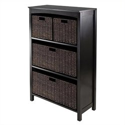 Winsome Terrace 4 Tier Storage Shelf in Dark Espresso