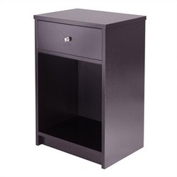 Accent Table with One Drawer in Espresso
