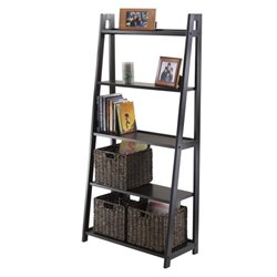 Adam 5-Tier A-Frame Shelf in Black