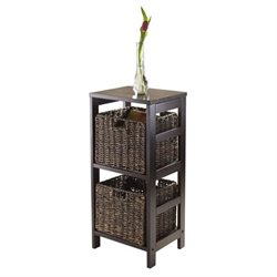 Winsome Granville 3Pc Storage Shelf with 2 Baskets in Espresso