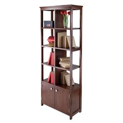 Winsome Oscar Display Curio Shelf in Antique Walnut