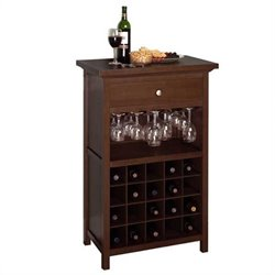20 Bottle Wine Cabinet in Antique Walnut