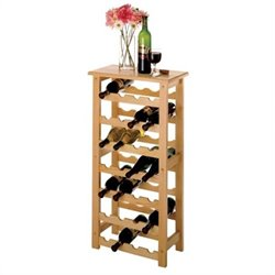 28 Bottle Wine Rack in Natural