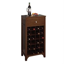 Winsome Regalia 24 Bottle Wine Cabinet in Antique Walnut