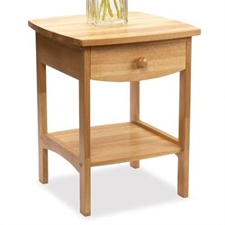Basics Solid Wood End Table / Nightstand in Natural