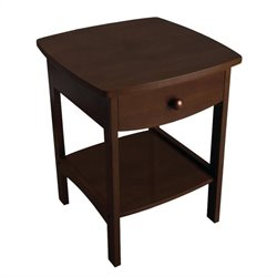 Basics End Table / Nightstand in Antique Walnut