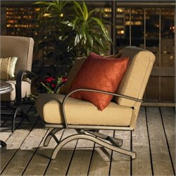 Outdoor GreatRoom Company Chat Deep Seating Aluminum Rocking Chairs (Set of 2)