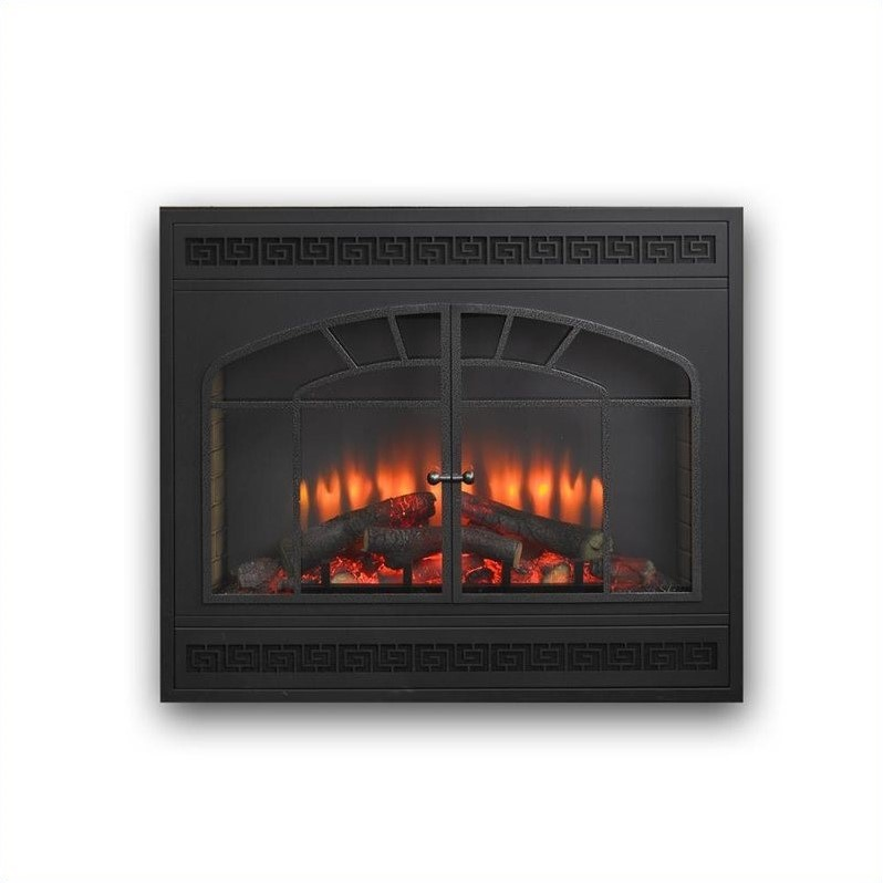 Outdoor Greatroom Company Greatco Electric Fireplace Front for GBI-34 in Matte Black
