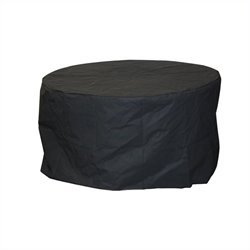 Outdoor Greatroom Company Round Black Vinyl Cover for Chat Table and Glass 42