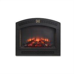 Outdoor Greatroom Company Full Arch Electric Fireplace Front for GBI-41 in Matte Black