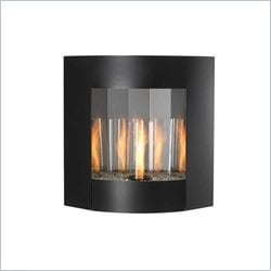 Outdoor GreatRoom Company Inspiration Wall Hanging Gel Fireplace in Black