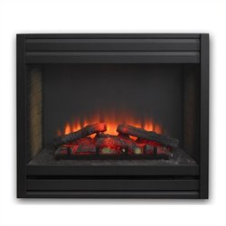 Outdoor Greatroom Company Louver Electric Fireplace Front for GBI-34 in Matte Black