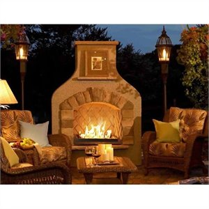 Outdoor Greatroom Company Sonoma Gas Fireplace Surround in Mocha