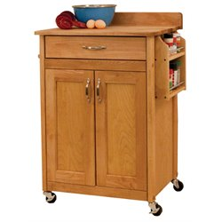 Catskill Craftsmen Kitchen Cart in Natural Birch