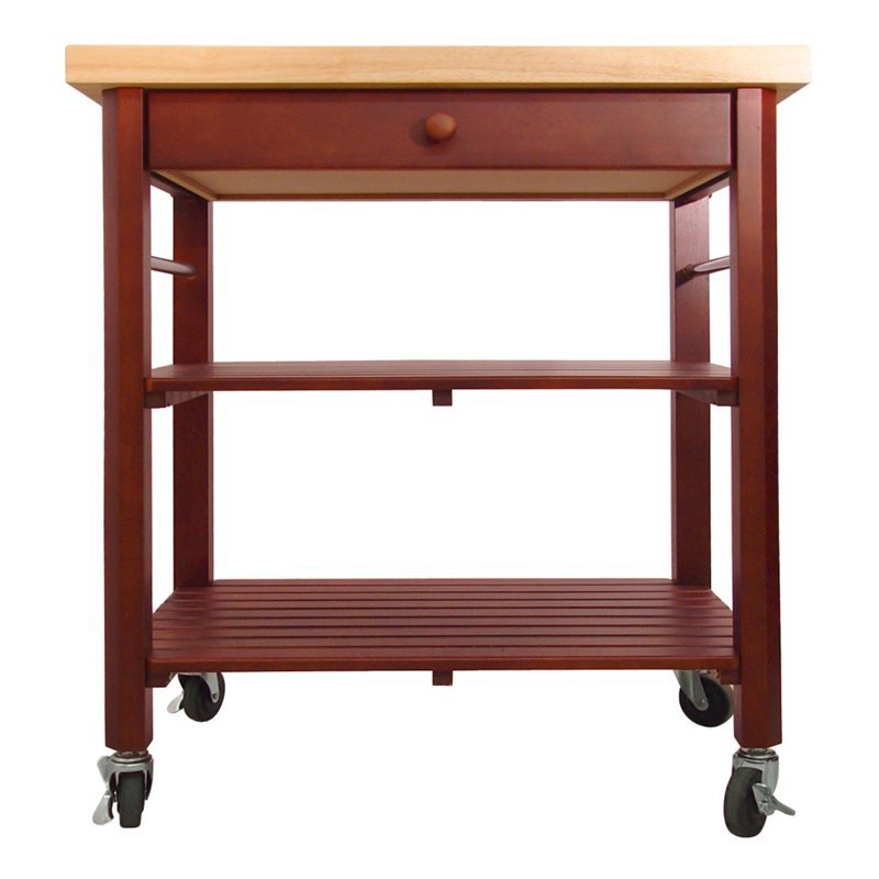 Catskill Craftsmen Roll About Kitchen Cart in Cherry Stain