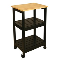 Catskill Craftsmen Utility Kitchen Cart in Black