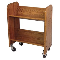 Catskill Craftsmen Bookmaster Book Rack in Walnut Stained Oak
