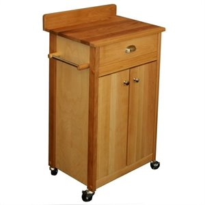 Catskill Craftsmen 24 Inch Butcher Block Kitchen Cart