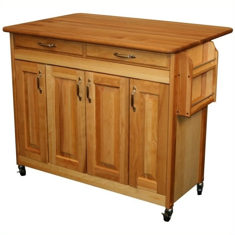 Catskill Craftsmen 44 Inch Butcher Block Drop Leaf Kitchen