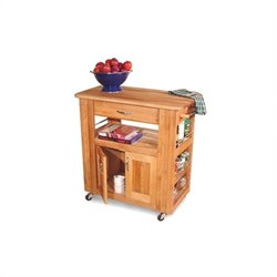 Catskill Craftsmen Heart of the Kitchen Butcher Block Island in Natural Finish