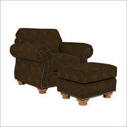 Broyhill Laramie Chair with Ottoman in Brown