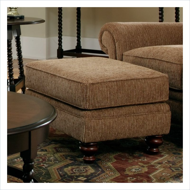 Broyhill Larissa Brown Ottoman with Cherry Wood Finish