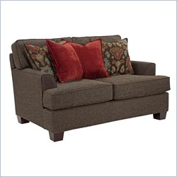 Broyhill Westport Dark Greyish Brown Loveseat with Walnut Wood Finish