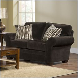 Broyhill Zachary Dark Brown Loveseat with Affinity Wood Finish