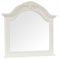 Broyhill Mirren Harbor Arched Dresser Mirror in White
