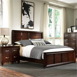 Broyhill Eastlake 2 Panel Bed Bedroom Set in Warm Brown Cherry