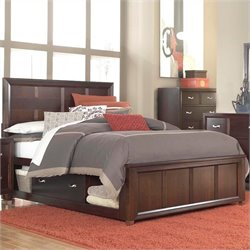 Broyhill Eastlake 2 Panel Single Underbed Storage Bed in Brown Cherry - Queen