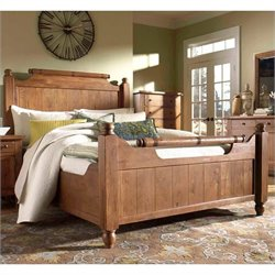 Broyhill Attic Heirlooms Weathered & Distressed Feather Bed - King/Natural Oak
