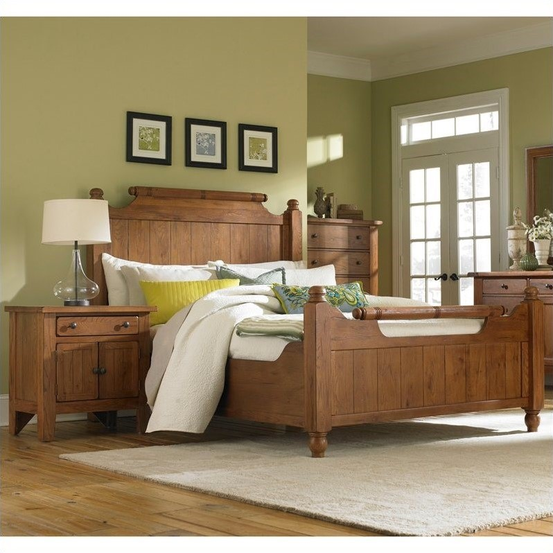 Broyhill attic heirlooms feather bed 3 piece bedroom set for 3 bedroom set