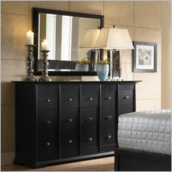 Broyhill Perspectives 9 Drawer Dresser and Mirror Set in Graphite