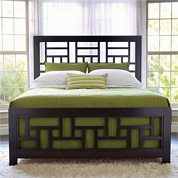 Broyhill Perspectives Lattice Bed in Graphite Finish - Queen