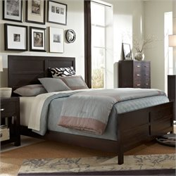 Broyhill Primo Vista Panel Bed in Black Stain - California King