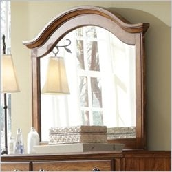 Broyhill Hayden Place Arched Dresser Mirror in Golden Oak