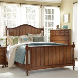 Broyhill Hayden Place Panel Bed in Warm Golden Oak - California King