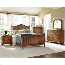 Broyhill Hayden Place Panel Bed 5 Piece Bedroom Set in Oak