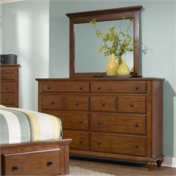 Broyhill Hayden Place Landscape Dresser Mirror in Light Cherry